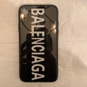 Black and white balenciaga iPhone X phone case